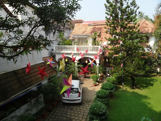 Ann's Residency : The beautiful courtyard decorated for Christmas