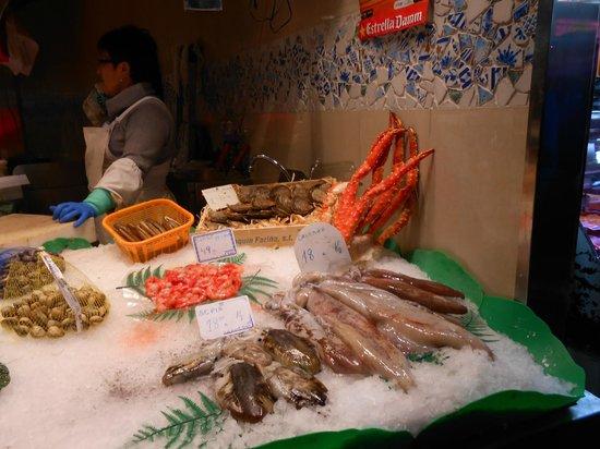 St. Josep La Boqueria : The crabs were still alive