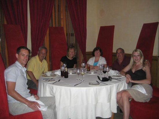 Excellence Playa Mujeres: Godfather group in Barcelona restaurant-they made us feel special