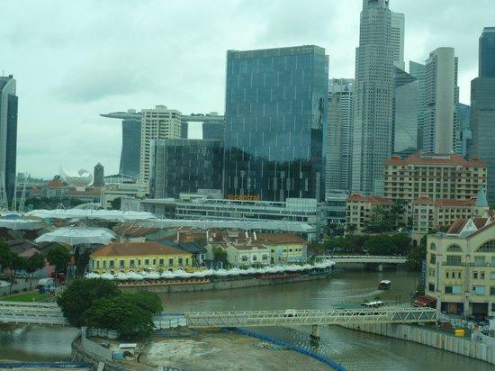 Park Hotel Clarke Quay: Grandioses Panorama vom Zimmer aus
