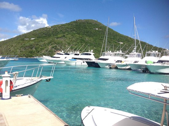 Scrub Island Resort, Spa & Marina, Autograph Collection: View from standing on on the marina dock in front of the dive shop