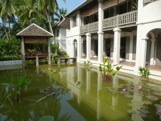 Satri House : Le bassin aux lotus