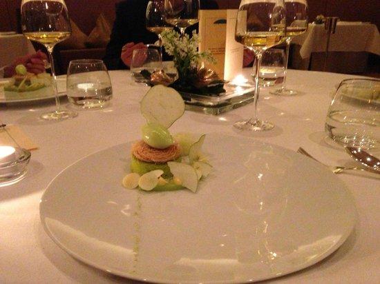 Le Ciel Berchtesgaden - Dessert kulinarische Krönung wunderschönen Abend: Inspiration Apfel