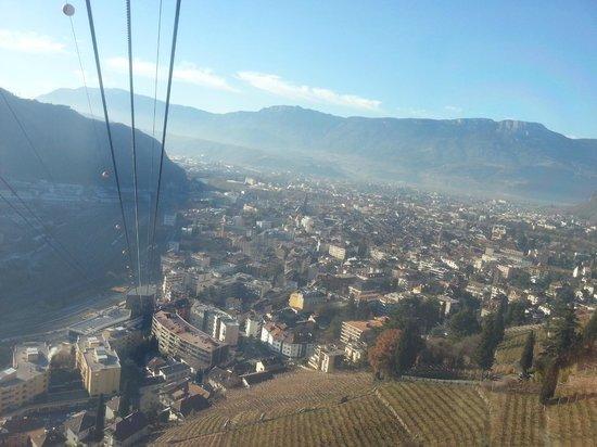 Cable Car Renon : il panorama di Bolzano