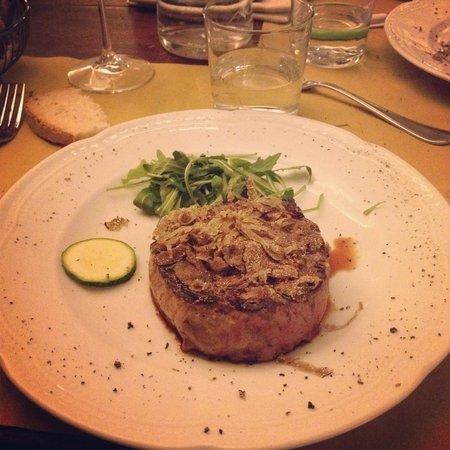La Taverna di San Giuseppe: Pièce de bœuf & truffe