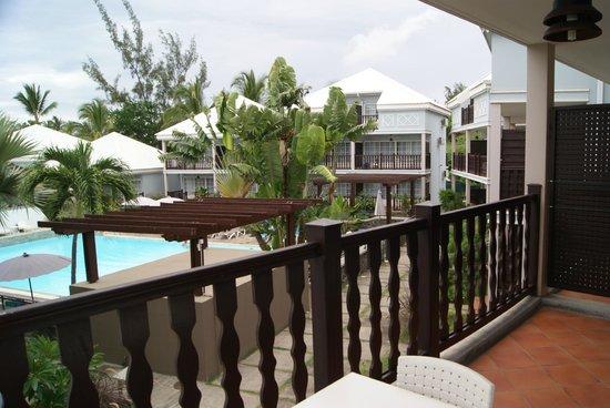 Hotel Les Creoles: Terrasse (vue piscine)