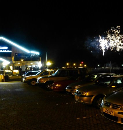 Murray's: St Aubin  by  the Boat House Restaurent - good view of the fireworks!