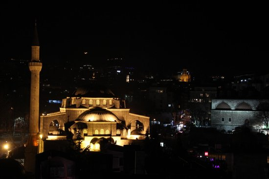Karakoy Port Hotel: View from the room at night