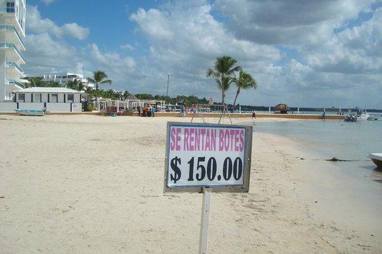 Boca Chica: placa sinalizadora