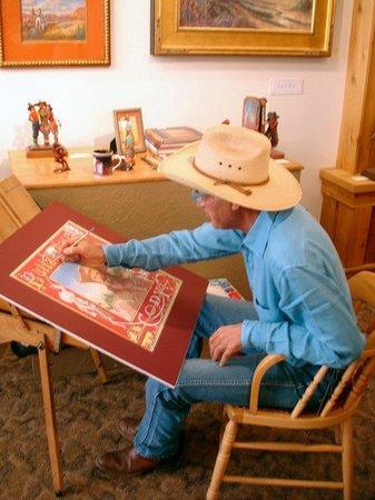 Big Horn Galleries: Buckeye Blake at an Artist Demonstration