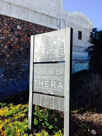 Museum of Prehistoric Thera: entrance sign