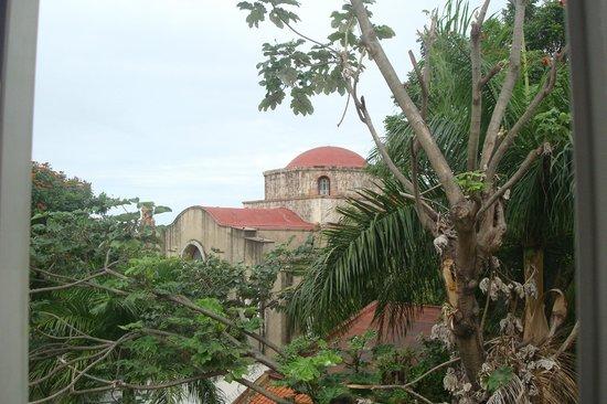 Hodelpa Caribe Colonial: Visual de minha janela, no quarto andar.