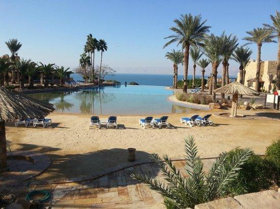 Movenpick Resort & Spa Dead Sea: Artificial beach leading to infinity pool!