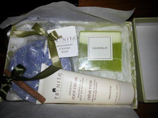 Movenpick Resort & Spa Dead Sea: Welcome gifts!
