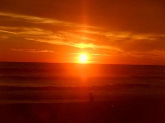 Barra Vieja Beach: Puesta del sol!