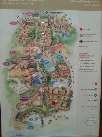 The complex map - Bild von Mövenpick Resort & Spa Dead Sea, Sweimah on