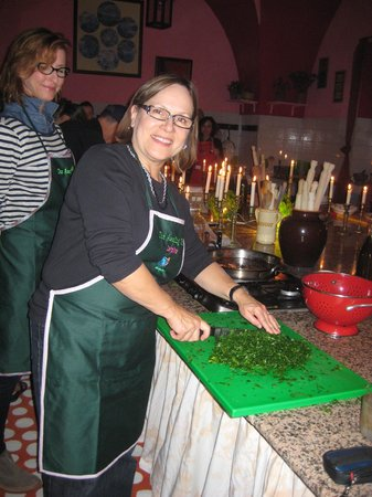 The Awaiting Table Cookery School in Lecce, Italy : Chopping parsley
