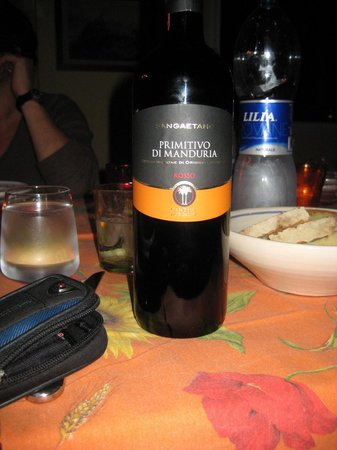 The Awaiting Table Cookery School in Lecce, Italy : Superb wine of the Salento