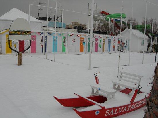 Marano Beach 135-136 : la neve al mare