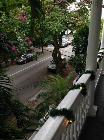 Ambrosia Key West Tropical Lodging : View of Fleming St from our Room- Havana Cabana