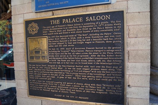 The Palace Restaurant and Saloon: Sign out front