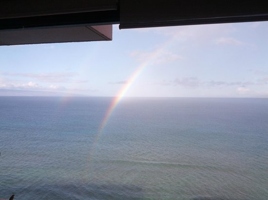 Maui Kai: View from the room (with bonus double rainbow)