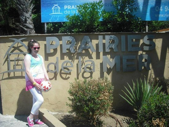 Les Prairies de la Mer : the entrance of the site !!
