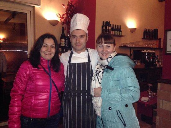 Osteria del Sostegno : Дмитрий -помощник шеф повара! Спасибо ему за все: теплый прием, рекомендации. Все было супер!!