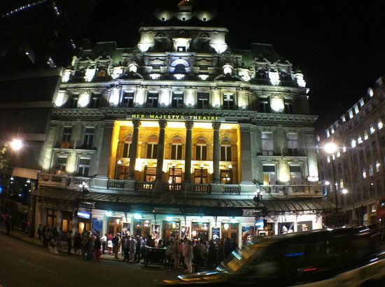 Phantom of The Opera London: Outside of the theatre