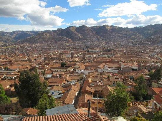 Welcome Cusco Hostel: View from Breakfast room