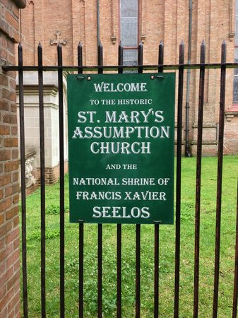 St. Mary's Assumption: Entrance sign