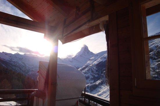Hotel National Zermat : Horu imposant und romantisch