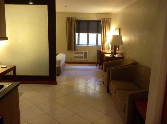 Kimberly Hotel: living area