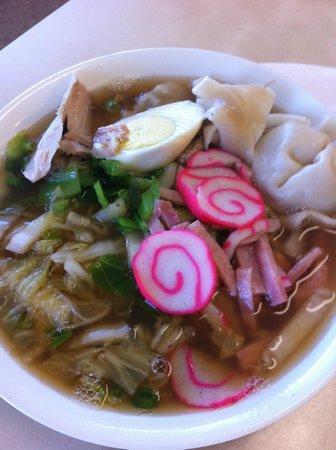 Hamura Saimin Stand: Saimin Bowl - Pork, Egg, Seafood Cake, Noodles, Broth....