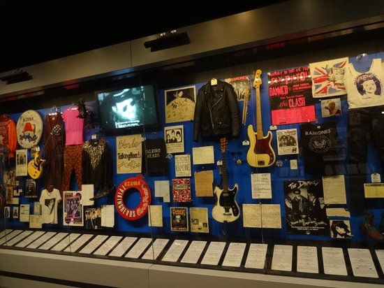 Rock & Roll Hall of Fame: inside there are a lot of neat artifacts