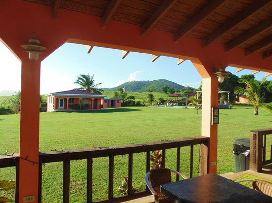 Hector's by the Sea: View of the grounds of Hector's from the gazebo.