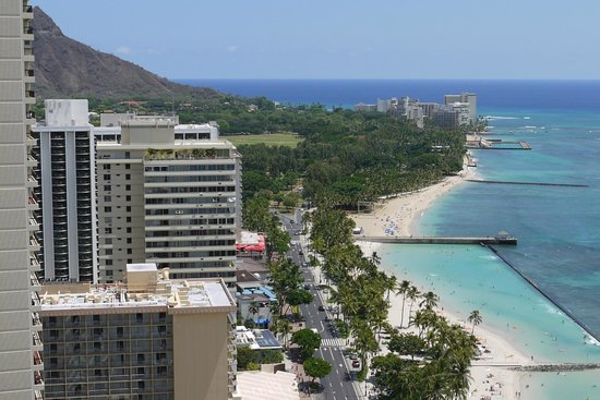 Hyatt Regency Waikiki Resort & Spa : The View looking toward Diamond Head