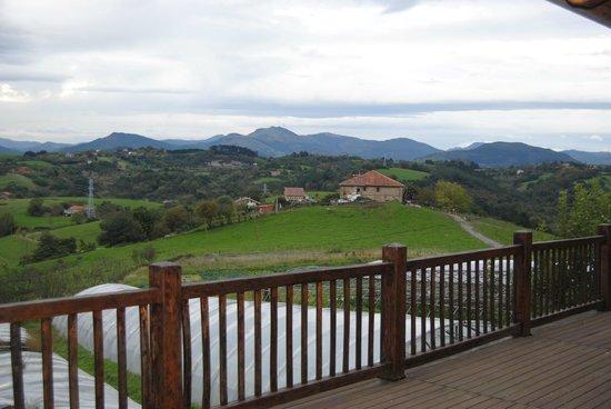 Casa Rural Aristondo Baserria : Vista desde la terraza