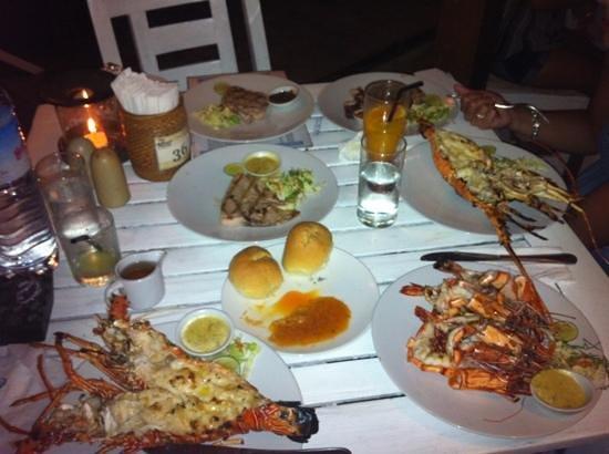Beach House Restaurant: nostra tavolata in due
