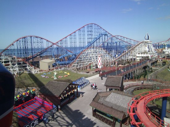 Pleasure Beach: The view from part way up the UK's Tallest and Fastest rollercoaster!