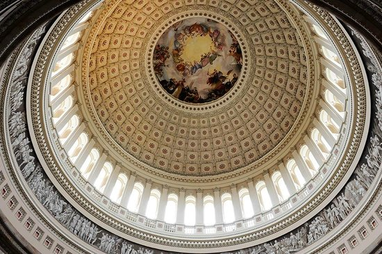 Capitol Hill: The ceiling from the inside