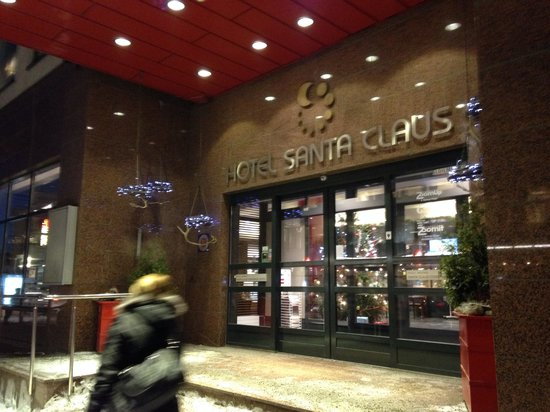 Santa's Hotel Santa Claus: Hotel front entrance