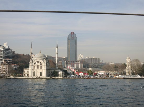 The Ritz-Carlton, Istanbul: The hotel from the seaside
