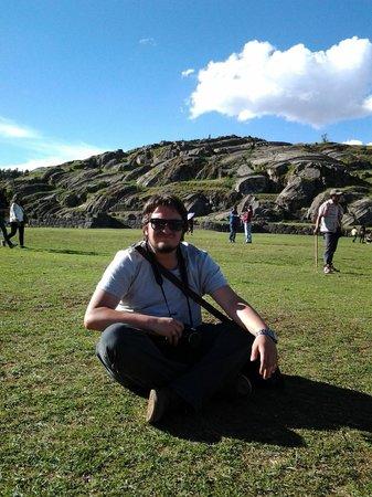 Sacsayhuamán: Descanse nos gramados de Sacsayhuaman.
