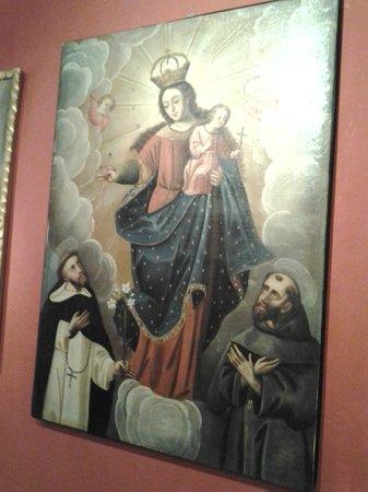 Pre-Columbian Art Museum: pintura com São Francisco de Assis.