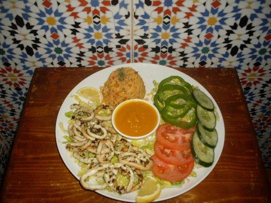 Delices et saveurs : calamar à la plancha purèe de carottes