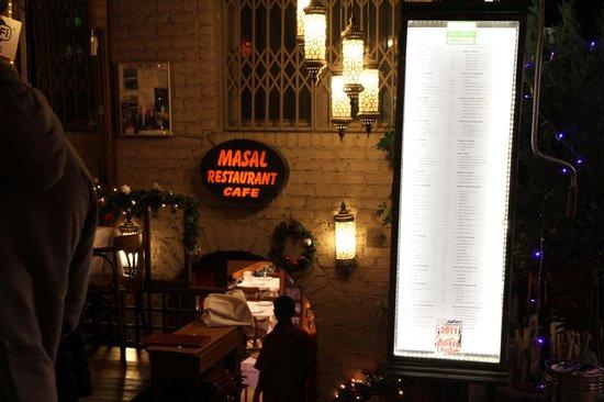 Masal Restaurant : Entrance