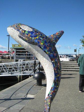 Inner harbour statue