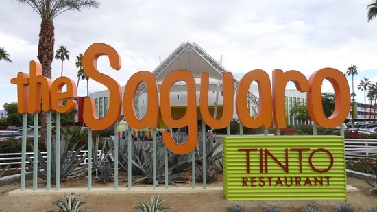The Saguaro Palm Springs: Sign and hotel