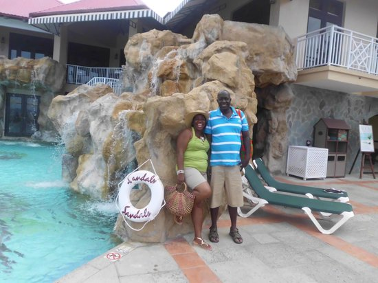 Sandals Regency La Toc Golf Resort and Spa: Basking in the beauty of my sweet St.Lucia ,a honeymoon after 22 years well deserving.